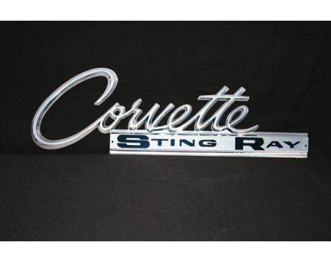 Corvette Metal Sign,Rear Emblem,Stingray,1963-1965