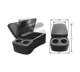 "BD Drinkster Seat Console - 17"" x 8-1/4"" - Black"
