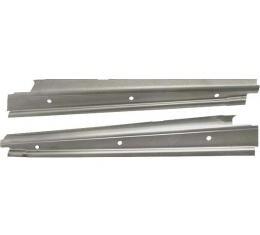 Model A Ford Windshield Vertical Garnish Mouldings - Die Stamped Steel - Slant Windshield