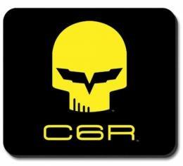 """Corvette Mouse Pad, Corvette C6R """"Jake"""" Black & Yellow Image"""
