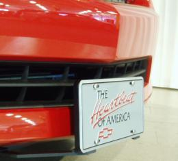 Camaro Aero Plate Front License Plate, Polished, 2010-2017 (Except ZL1 or With Ground Effects)