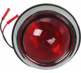 Tail Light Assemblies - With Red Lens - Left And Right - 1950 Pontiac Style