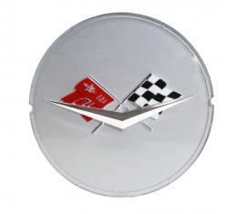 Trim Parts 59-60 Full-Size Chevrolet and El Camino Silver Spinner Emblem, Each 2050