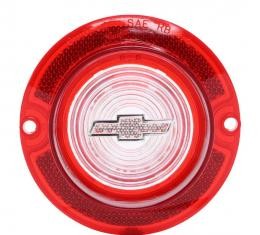 Trim Parts 63 Full-Size Chevrolet Red Back Up Light Lens with Clear Bowtie, Each A2260B