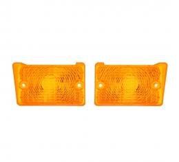 Trim Parts 71-72 Nova Amber Parking Light Lens, Pair A3061