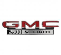 Trim Parts 68-72 GMC Truck Front Fender Emblem, GMC 2500 V-Eight, Pair 9830