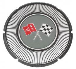 Trim Parts 66 Gas Lid Emblem, White Upper Left Corner, Each 5008A