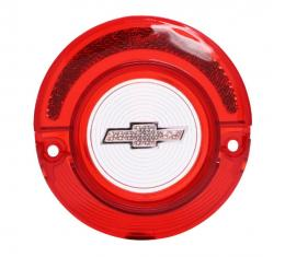 Trim Parts 64 Full-Size Chevrolet Red Back Up Light Lens with Clear Bowtie, without Trim, Each A2360B