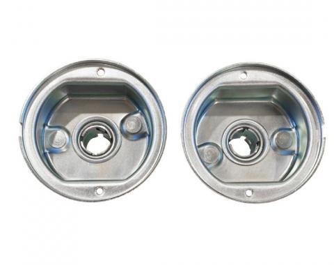 Trim Parts 57 Chevrolet Grille Bar Parking Light Housing, Pair 1401A