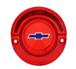 Trim Parts 64 Full-Size Chevrolet Red Tail Light Lens with Blue Bowtie, Each A2350F