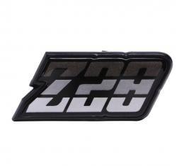 Trim Parts 80-81 Camaro Fuel Door Emblem, Z-28, Charcoal, Each 6951