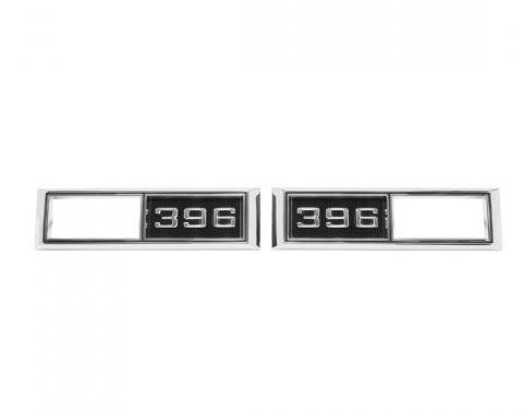 Trim Parts 68 Full-Size Chevrolet, Chevelle, Nova, and El Camino Front Marker Light Bezel, 396, Pair 4523