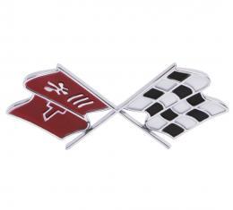 Trim Parts 68 Corvette Fuel Door Emblem, Each 5954