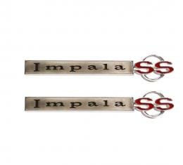 Trim Parts 67 Impala Front Fender Emblem, Impala SS, Pair 2619