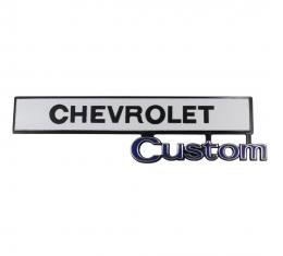 Trim Parts 69-72 Chevrolet and GMC Truck Glove Box Door Emblem, Chevrolet Custom, Each 9670