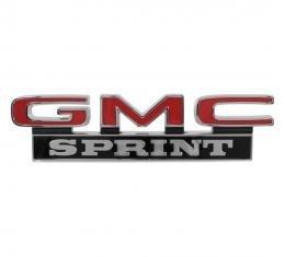 Trim Parts 71-72 GMC Truck Front Fender Emblem, GMC Sprint, Pair 9841