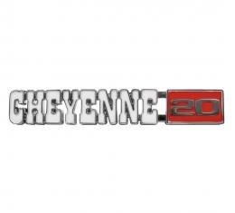 Trim Parts 71-72 Chevrolet and GMC Truck Front Fender Emblem, Cheyenne 20, Pair 9722
