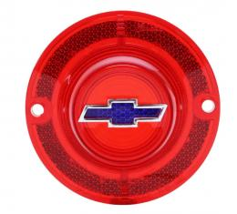 Trim Parts 62 Full-Size Chevrolet Red Tail Light Lens with Blue Bowtie, Trim Included, Each A2150F