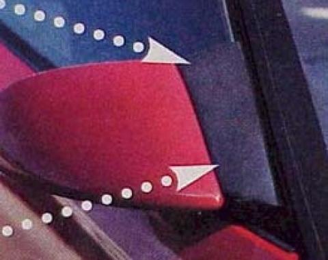 Corvette Mirror Wind Noise Deflectors, 1984-1996