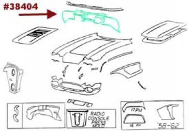Corvette Firewall Panel, Upper, 1958-1962