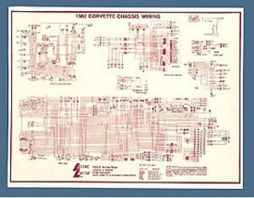 Corvette Wiring Diagram, Laminated, 1982