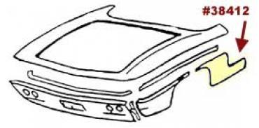 Corvette Quarter Panel, Left, Front, Lower, Rear, 1961-1962
