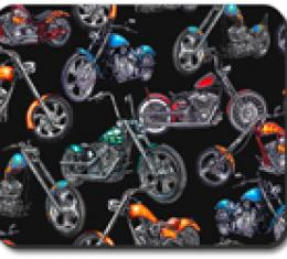 Choppers & Skulls, Black,  Mouse Pad