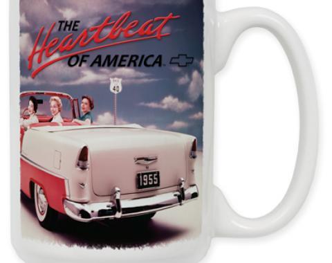55 Chevy Vintage Ad Coffee Mug