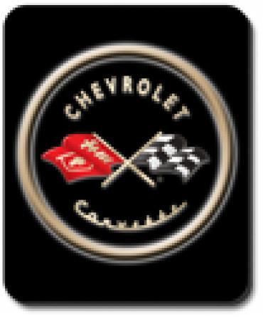 Corvette Black Logo, Mouse Pad