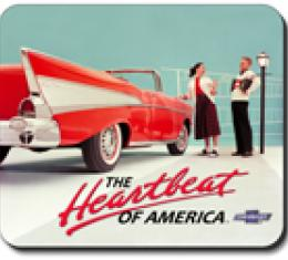 57 Chevy Vintage Ad, Mouse Pad