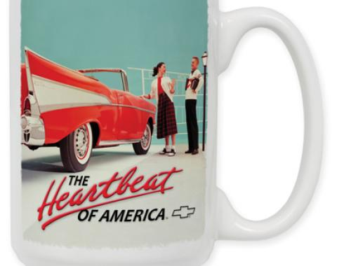 57 Chevy Vintage Ad Coffee Mug