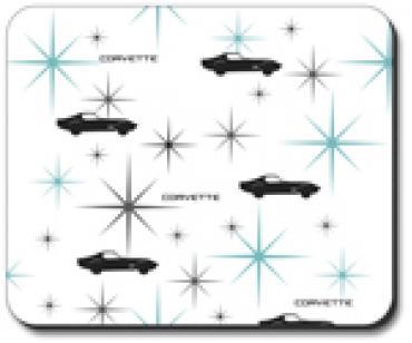 Corvette Silhouette, Mouse Pad