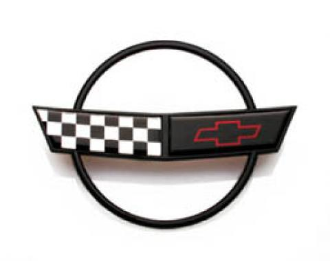 Corvette Hood Emblem, Front, Outer, 1991-1996