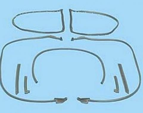 Corvette Coupe Body Weatherstrip Kit, 9 Piece, USA Made, 1973-1977 Early