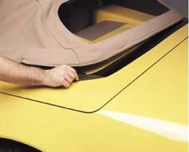 Corvette Deck Lid Protector, Convertible or Hardtop, Black, 1986-1996