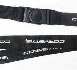 Corvette Lanyard, Key & Badge Holder, With C6 Emblem