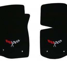 Lloyd Velourtex 2 Pc Front Mats, 960 Black, Logo 819026