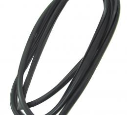 Precision Rear Window Weatherstrip Seal, Works With Chrome Trim in Body Clips, 2/4 door sedan WCR DB3130