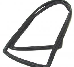 Precision Ford Bronco 1967-1977  Rear Liftgate Window Weatherstrip Seal, With Trim Groove for Steel Trim WCR DB2529 T