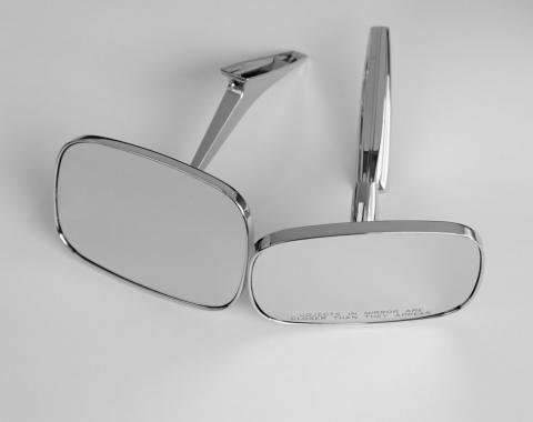 Chrome Clear Shot Outside Door Mirrors, 1968-1969