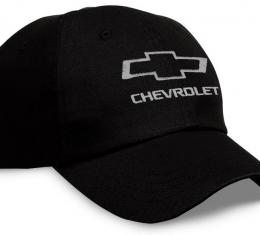 Chevrolet Black Hat with Silver Open Bowtie