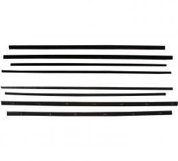 PUI 55 FORD 2 DR HTOP WINDOW 990915A | Belt Weatherstrip Kit - 8 Pieces - Ford 2 Door Hardtop