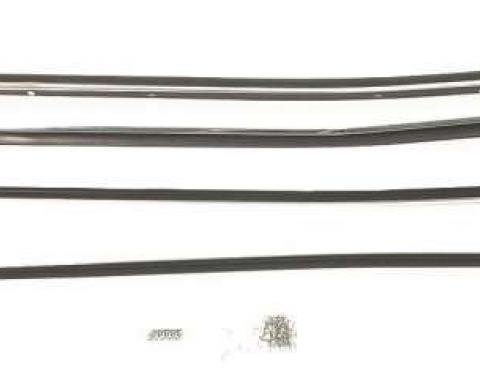 Camaro Window Felt Weatherstrip Kit, Inner And Outer, for Cars without Chrome Moldings, 1970-1981