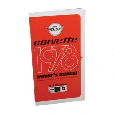 Corvette Owners Manual, 1978