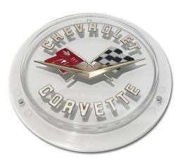 Trim Parts 58-60 Corvette Front and 58-62 Gold Rear Emblem, Each 5090