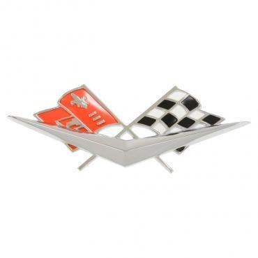 Corvette Front Emblem, Crossed-Flags, 1961