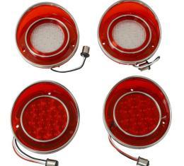 Corvette LED Tail Lamp Set with Backup Lights, 1968-1973