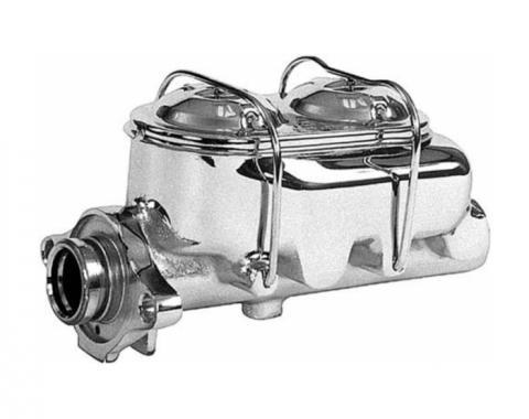 Corvette Master Cylinder with Power Brakes, Chrome, 1977-1982