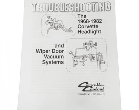 Corvette Headlight & Wiper Vacuum Troubleshooting Guide, 1968-1982
