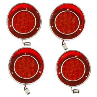 Corvette LED Tail Lamp Set, No Backup Lights, 1968-1973